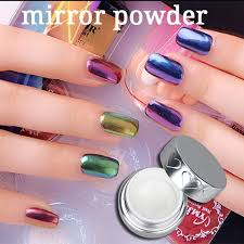 rainbow chrome mirror effect pigment nail polish powder buy