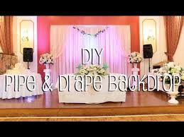 diy wedding backdrop names diy pipe drape backdrop in 4 easy steps