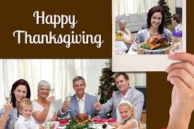 happy family and thanksgiving message on black background design
