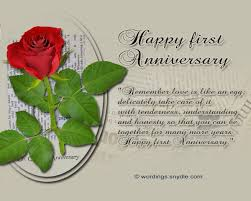 anniversary card for message 1st wedding anniversary messages wordings and messages