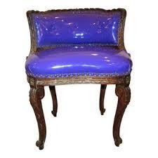 Antique Vanity Chairs Vintage U0026 Used Purple Side Chairs Chairish