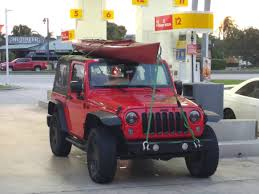 jeep kayak trailer kayak on a soft top jeep wrangler forum