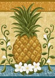 Custom Decor Garden Flags Amazon Com Custom Decor Colonial Pineapple Mini Garden Flag