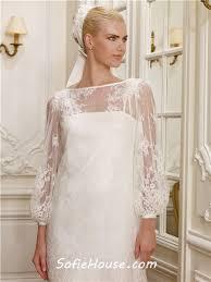 informal boat neckline long sleeve vintage lace mini wedding dress