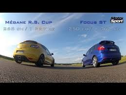 Ford Focus Meme - drag race new ford focus st vs mégane rs cup motorsport youtube