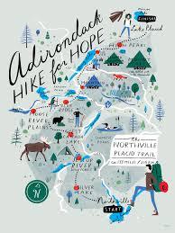 Adirondack Mountains Map Adirondack Hike For Hope On Behance