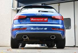 audi q3 modified rear exhaust right left 150x105 with valve for audi rs q3 2 5