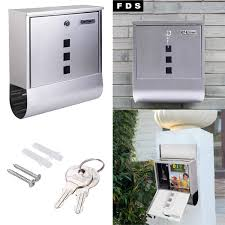 Diy Wall Mount Mailbox Lockable Mailbox Post Letter Box Newspaper Holder Wall Mounted