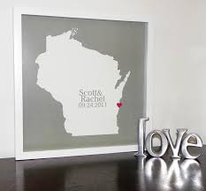 unique monogrammed wedding gifts personalized wedding gifts state map framed wedding map