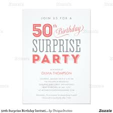 Guest Invitation Card 50th Birthday Surprise Party Invitations Dolanpedia Invitations