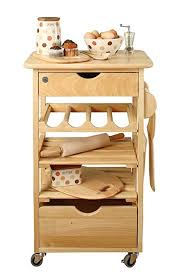 t u0026g kitchen compact kitchen trolley natural hevea amazon co uk
