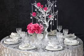 manzanita tree centerpiece 30 silver manzanita tree with garlands wedding party centerpieces