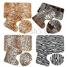 Zebra Print Bathroom Rugs Leopard Bathroom Set Ebay