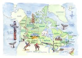 Map Of Newfoundland Canada by Detailed Tourist Illustrated Map Of Canada Vidiani Com Maps Of