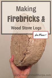 how to make firebricks fire logs and wood stove logs for free