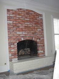 faux paint red brick fireplace everything i create paint