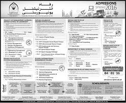 M S University by Riphah International University Admissions In Bba Ms Project