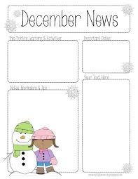 preschool newsletter template peerpex