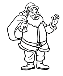 santa and presents christmas coloring pages printable christmas