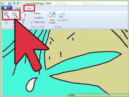 how to zoom in on a photo in microsoft paint 6 steps
