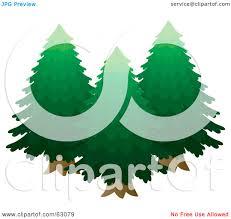 royalty free rf clipart illustration of three lush green