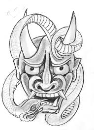 tattoo sketch a day japanese masks september 8th 14th