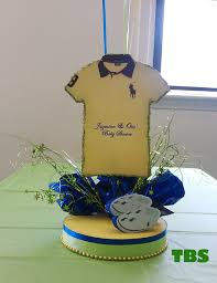 polo themed baby shower centerpieces