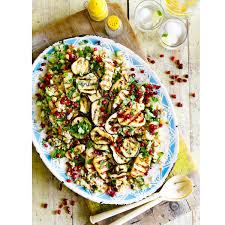 cuisine aubergine halloumi and aubergine salad halloumi salad recipe housekeeping