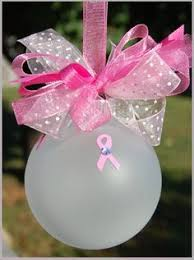 diy pink ribbon breast cancer awareness ornament takes 10