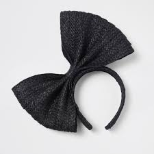 black bow headband black straw bow headband hair accessories accessories women