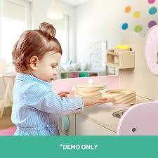 kids wooden pretend play kitchen set toy toddlers market home