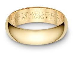 bible verse rings bible verse wedding band ring yellow gold