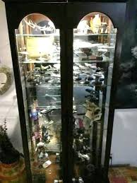 Glass Curio Cabinet With Lights Curio Cabinets With Lights Glass Curio Cabinets With Lights Curio