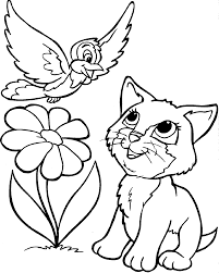 cat coloring pages sun flower pages