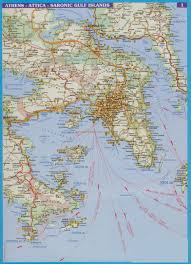 Athens Greece Map by Ferry Ports Map Greater Athens Area U0026 Attika