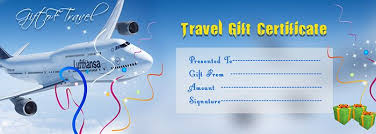 travel gift certificates travel gift voucher certificate template execl template