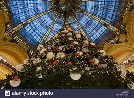 giant christmas tree in gallery lafayette department store paris