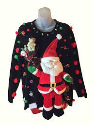 plush singing santa custom sweater 2x 52 26