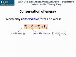 dynamics lecture 18 conservation of energy
