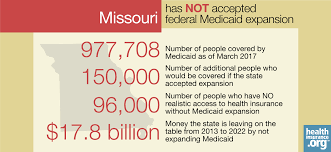 missouri and the aca u0027s medicaid expansion eligibility enrollment
