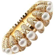 pearl bangle bracelet images Bulgari celtaura diamond pearl gold bangle bracelet for sale at jpg