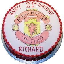 manchester united birthday cake flecks cakes