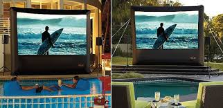 Backyard Home Theater Inflatable Outdoor Home Theater With Ps3 Turns Any Backyard Into A
