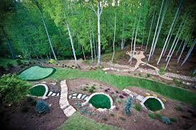 Putting Green In Backyard by Backyard Play Spaces In Atlanta From Tree Houses To Playing