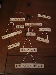 diy scrabble ornaments domestic
