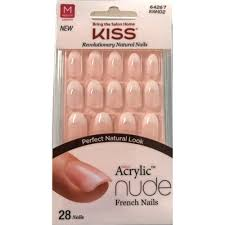 buy salon acrylic french nails 1 kit by kiss online priceline