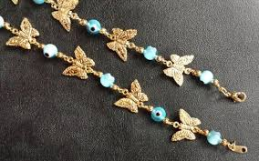 beaded bracelet charms images 14 kt gold filled butterfly charm bracelet with beads jpg