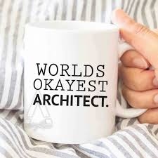 architect gift worlds okayest architect mug large coffee mugs