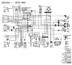 Honda Cb 500 1979 Wiring Diagram Honda Cb125s 1979 1980 Wiring Diagram 61683 Circuit And Wiring