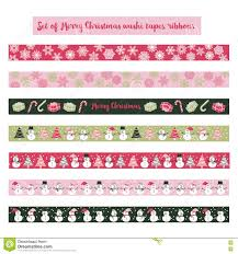 halloween washi tape merry christmas scrapbook washi tape stock vector image 78651918